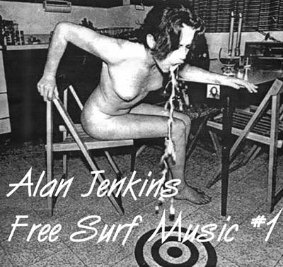 Free Surf Music #1 - a vinyl L.P. by Alan Jenkins. 1. Freak saturn tattoo 2.